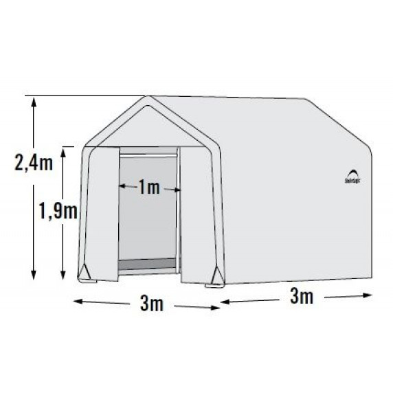 Fóliovník 3 x 3 m - 35 mm SHELTERLOGIC