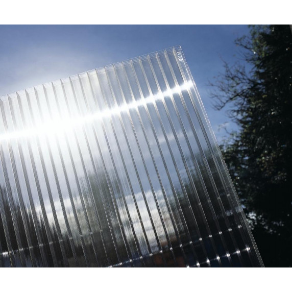 Alumínium pergola LANITPLAST WALL 53 bílá + clear PC