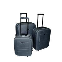 Linder Exclusiv EVA cestovní kufry MC3031 S,M,L - Šedý