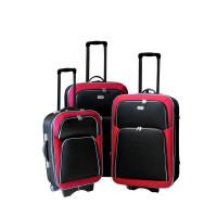 Linder Exclusiv EVA 2 cestovní kufry MC3029 S,M,L - Červeno/čierný