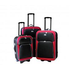 Linder Exclusiv EVA 2 cestovní kufry MC3029 S,M,L - Červeno/čierný Preview