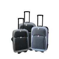 Linder Exclusiv EVA 2 cestovní kufry MC3029 S,M,L - Antracit/červený