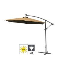 Aga Zahradní slunečník konzolový EXCLUSIV LED 300 cm Coffee