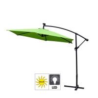 AGA zahradní konzolový slunečník EXCLUSIV LED 300 cm Apple Green