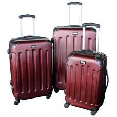Linder Exclusiv LUXURY MC3002 Cestovní kufry S,M,L - burgundy Preview