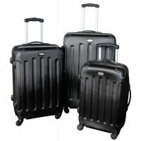 Linder Exclusiv LUXURY MC3003 Cestovní kufry S,M,L - černé