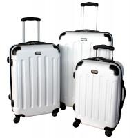 Linder Exclusiv LUXURY MC3053 Cestovní kufry S,M,L - bílé