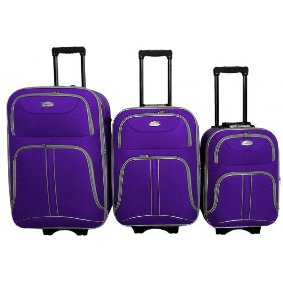 Linder Exclusiv COMFORT COLORS cestovní kufry MC3050 S,M,L - Fialový