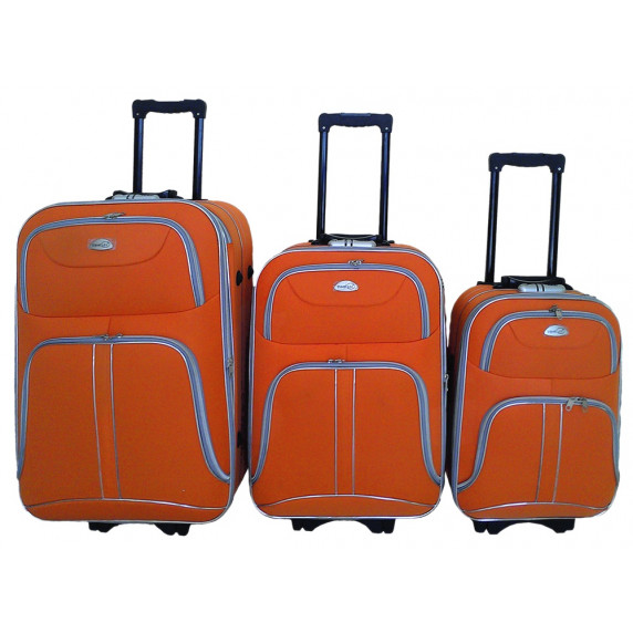 Linder Exclusiv COMFORT COLORS cestovní kufry MC3049 S,M,L - Oranžový