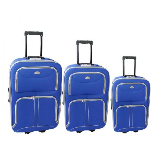 Linder Exclusiv COMFORT COLORS cestovní kufry MC3063 S,M,L - Modrý