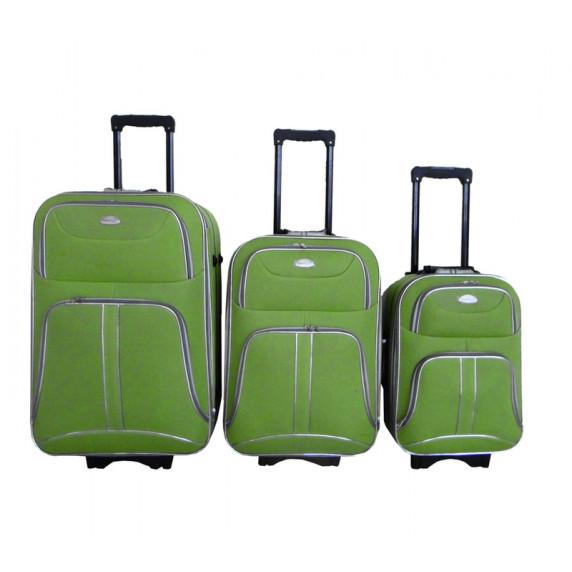Linder Exclusiv COMFORT COLORS cestovní kufry MC3049 S,M,L - Zelený