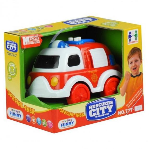 Inlea4Fun malé hasičské auto se zvukovými a světelnými efekty