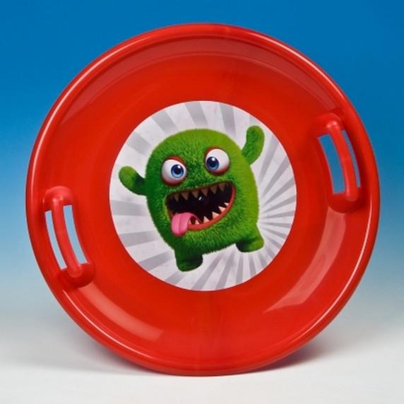 Inlea4Fun velký sněžný talíř 60 cm červený