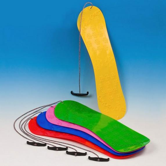 Inlea4Fun dětský plastový snowboard modrý