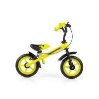 Dětské cykloodrážadlo Milly Mally Dragon s brzdou 10 '- žluté