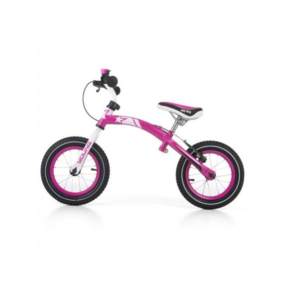 Dětské cykloodrážedlo 2v1 Milly Mally Young 12 '- pink