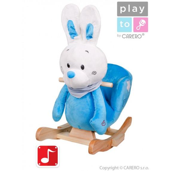 PlayTo Houpací hračka králíček modrá