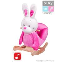 PlayTo Houpací hračka králíček růžová