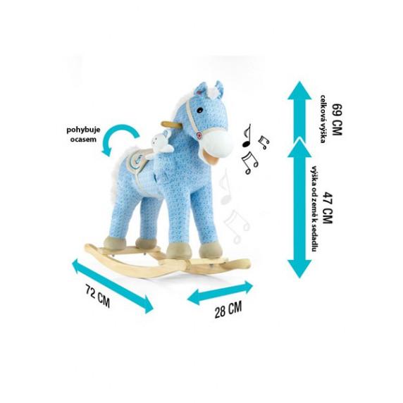 Milly Mally Houpací koník Pony fialový