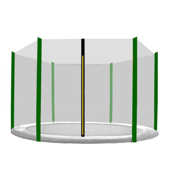 Aga Ochranná síť 305 cm na 6 tyčí - čierna - tmavozelená