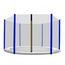 Aga Ochranná síť vonkajší - 400 cm na 6 tyčí - čierna - modrá Preview