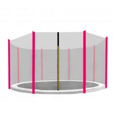 Aga Ochranná síť - vonkajší - 366 cm na 8 tyčí - čierna - ružová Preview
