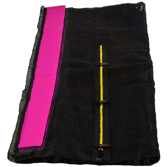 Aga Ochranná síť - vonkajší - 366 cm na 8 tyčí - čierna - ružová