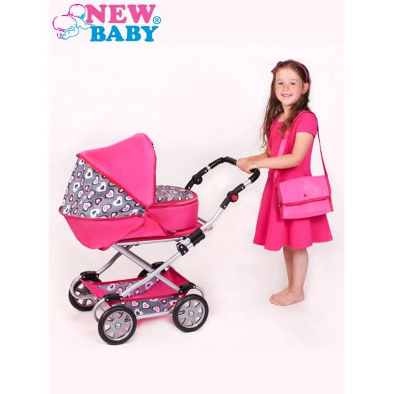 Dětský kočárek pro panenky 2v1 New Baby Ruženka