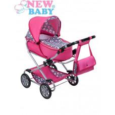 Dětský kočárek pro panenky 2v1 New Baby Ruženka Preview