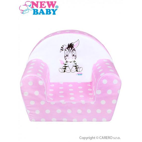 Dětské křeslo New Baby Zebra růžové