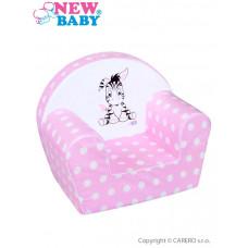 Dětské křeslo New Baby Zebra růžové Preview