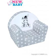 Dětské křeslo New Baby Zebra šedé Preview