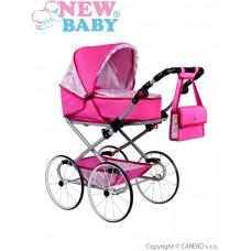 Detský Retro kočík pre bábiky 2v1 New Baby Natálka ružový   Preview