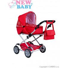 Dětský kočárek pro panenky 2v1 New Baby Monika červený Preview
