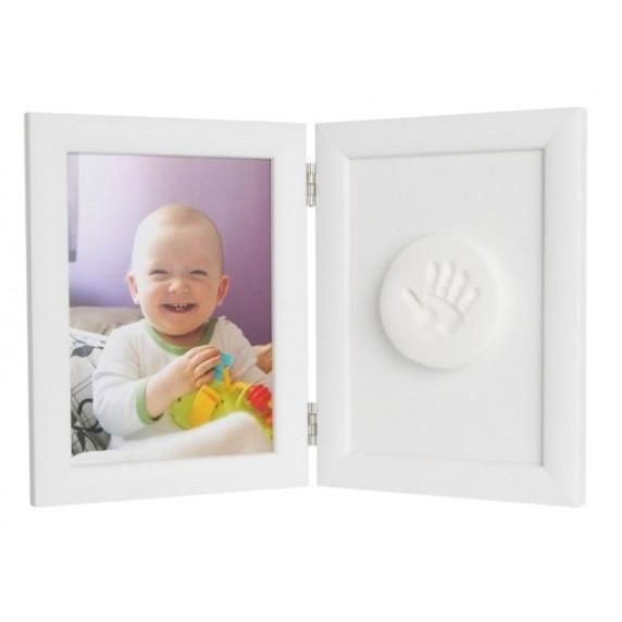 Dvojitý fotorámeček s otiskem Inlea4fun - Bílý
