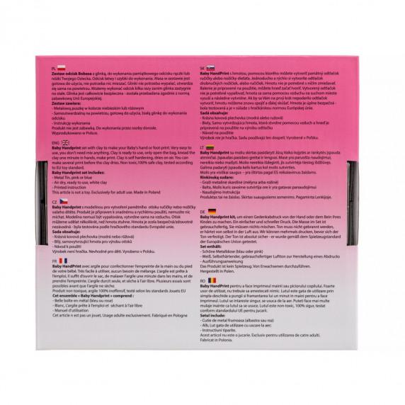 Sada na dětský otisk Baby HandPrint - růžová