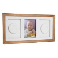 Trojitý fotorámeček s otiskem Baby HandPrint - hnědý