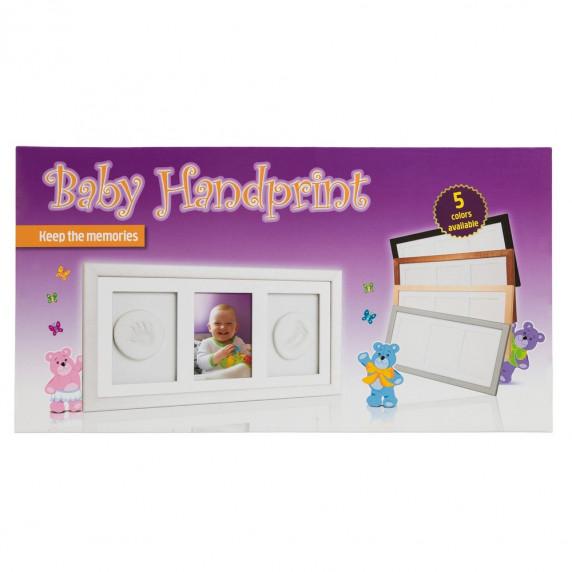 Trojitý fotorámeček s otiskem Baby HandPrint- Černý