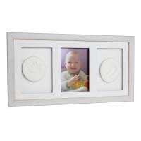 Trojitý fotorámeček s otiskem Baby HandPrint- Bílý