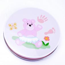 Sada na dětský otisk Inlea4Fun - růžová Preview