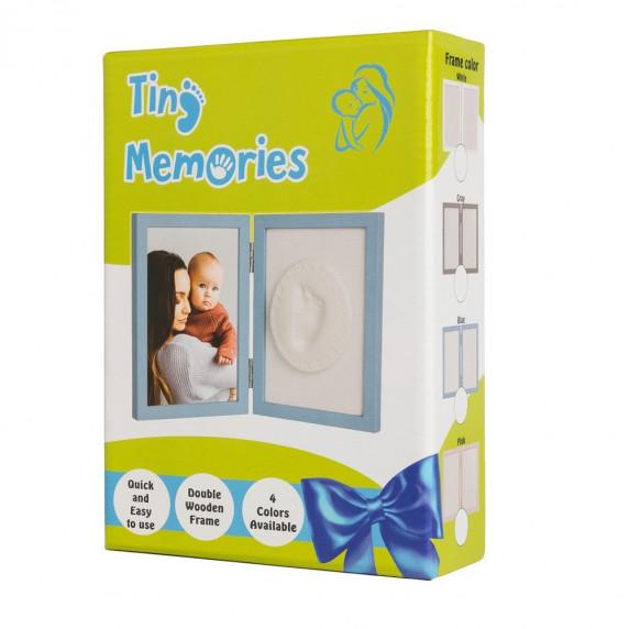 Dvojitý fotorámeček s otiskem Tiny Memories - bílý
