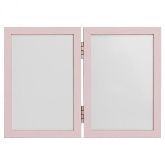 Dvojitý fotorámeček s otiskem Inlea4Fun - růžový