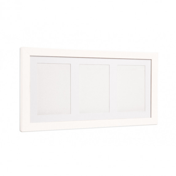 Trojitý fotorámeček s otiskem Inlea4Fun - Bílý
