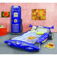 Inlea4Fun dětská postýlka Formule 1- modrá Preview