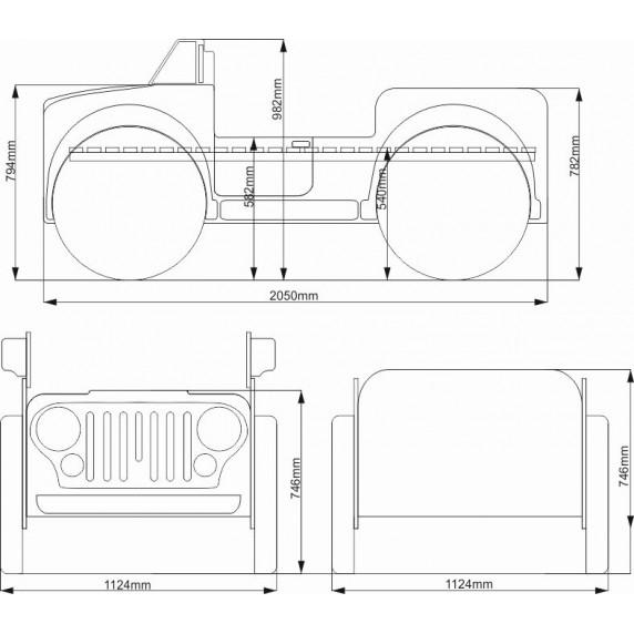 Dětská postýlka Inlea4fun Monster Truck