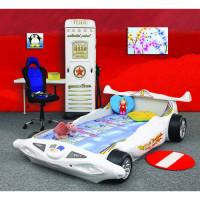 Dětská postýlka Inlea4Fun Formule 1- bílá