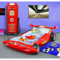 Dětská postýlka Inlea4Fun Formule 1- červená