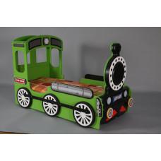 Inlea4fun - Dětská postýlka Lokomotiva - Zelená Preview
