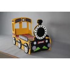 Inlea4fun - Dětská postýlka Lokomotiva - Žlutá Preview
