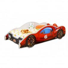 Inlea4Fun dětská postel ve tvaru automobilu Minimax  - Červená Preview